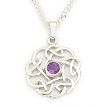 Celtic Knot Pendant with Amethyst Stone